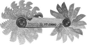 Резьбомер метрический 60° YATO 0.25 - 6 мм 24 шаблона