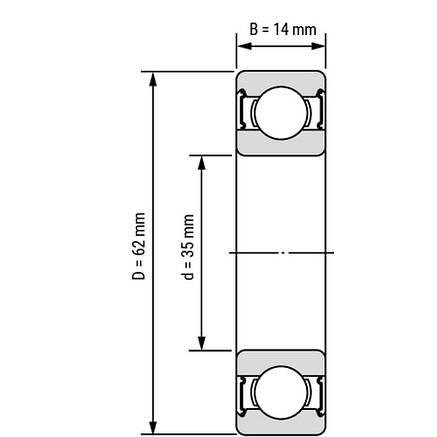 Підшипник 6007-2RS1/C3   SKF, фото 2