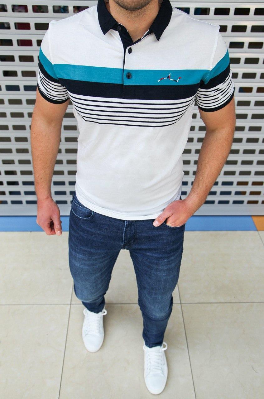 Мужская футболка Paul & Shark H0442 белая