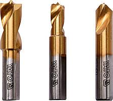 Сверла для точечной сварки YATO HSS 6.5, 8, 10 мм 3 шт