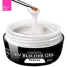 Строительный гель белый Naomi UV Builder Gel White 28 мл