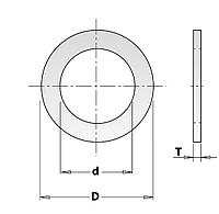 Кольцо 15,87х12,7-1,2 редукционное (переходное) CMT (Арт. 299.217.00)