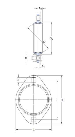 Корпус підшипника PFT 52 (к-т 2 шт), фото 2