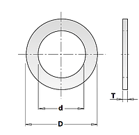 Кольцо 20х12,7-1,2 редукционное (переходное) CMT (Арт. 299.221.00)