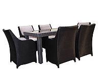 Комплект из искусственного ротанга Black & White, мебель из искусственного ротанга, комплект из ротанга