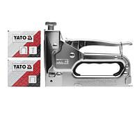 Степлер YATO с регулятором для скоб и гвоздей 6-14 х 10.6 х 1.2 мм