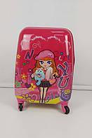 Яркий пластиковый чемодан для девочек, фото 1