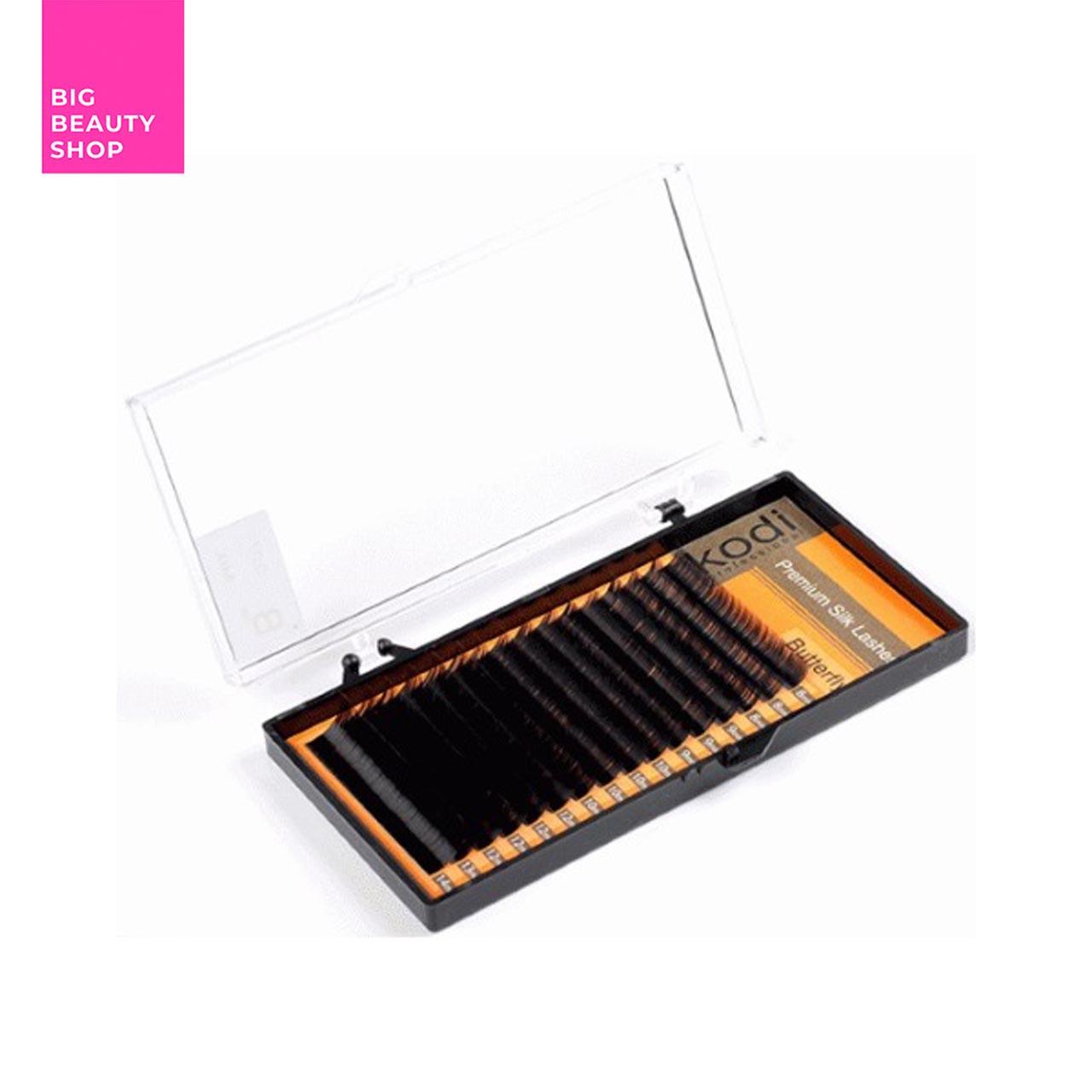Ресницы для наращивания, черные Kodi Professional №В.0.07 16 рядов: 8-14