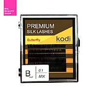 Ресницы для наращивания, черные Kodi Professional №В.0.10 6 рядов: 14-2; 15-2; 16-2