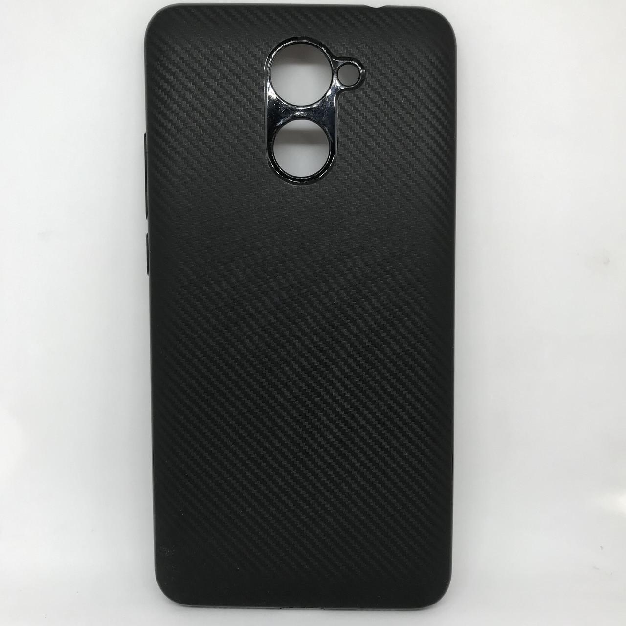 Чехол-накладка silicone Huawei Y7 черный