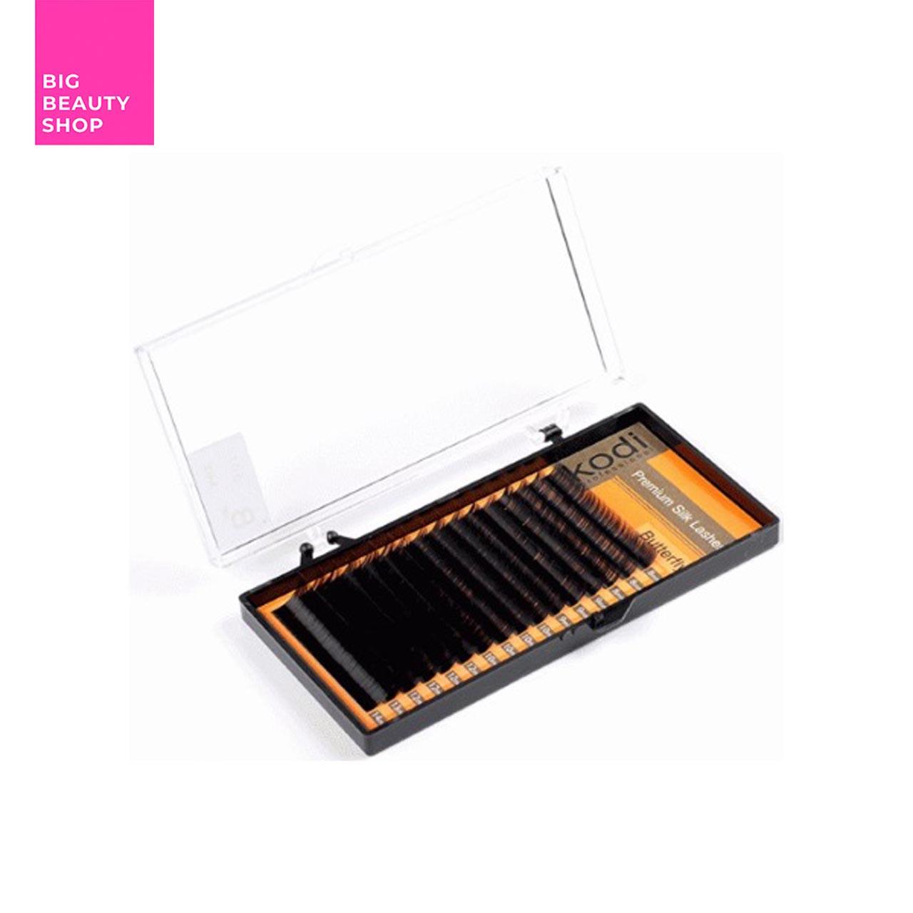 Ресницы для наращивания Kodi Professional черные Butterfly №C.0.10 16 рядов: 10 мм