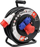 Удлинитель электрический на катушке YATO 25 м 2.5 мм² 4 гнезда 5-жильный