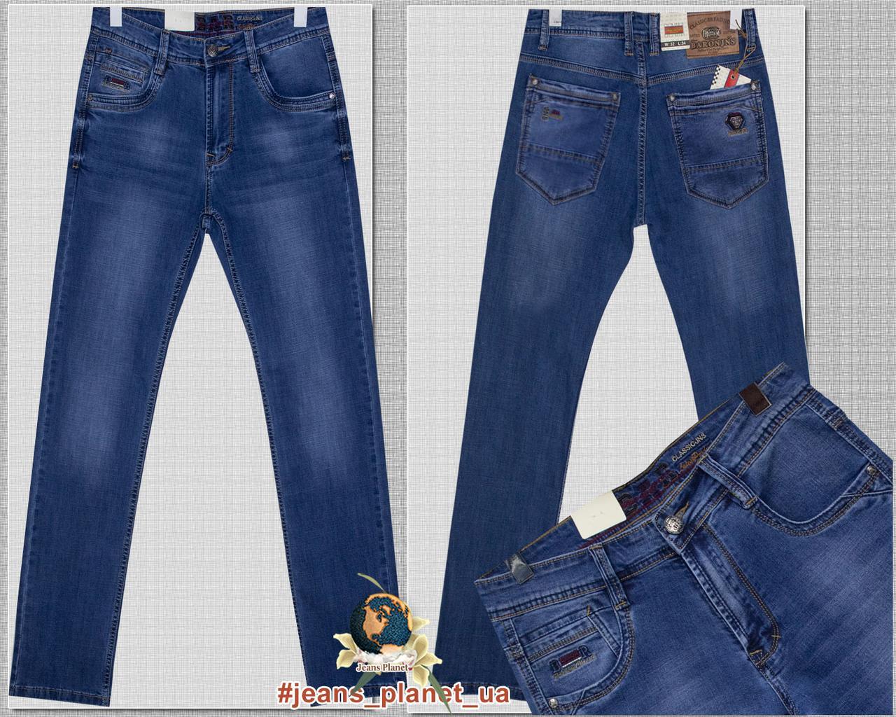 Джинсы мужские классические светло-синего цвета весна Baron