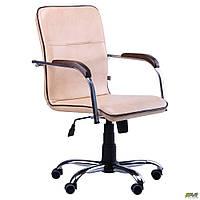 Кресло офисное AMF Самба-RC Хром бежевое, фото 1