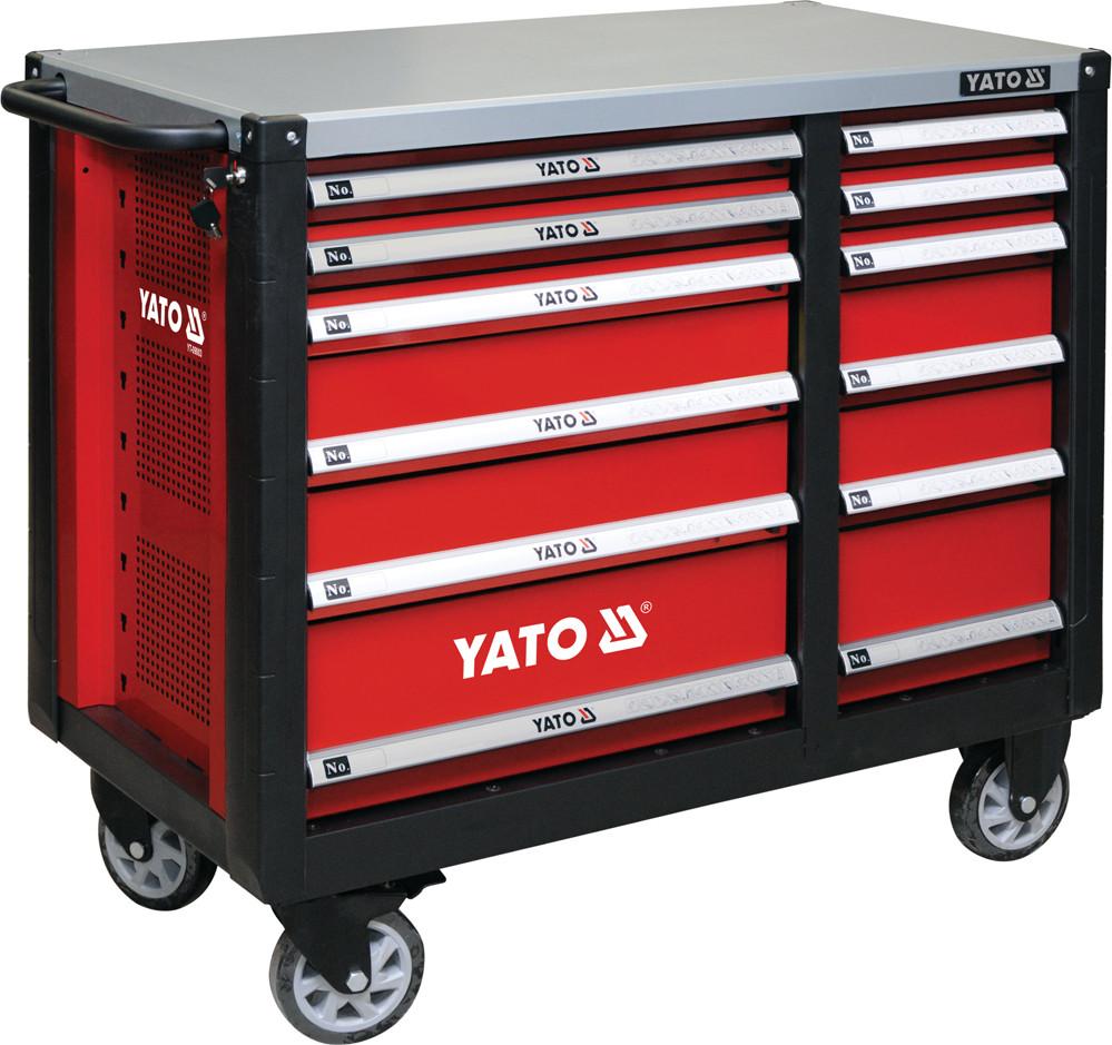 Шкаф-тележка для инструментов YATO 1000 x 1130 x 570 мм с 12 шуфлядами
