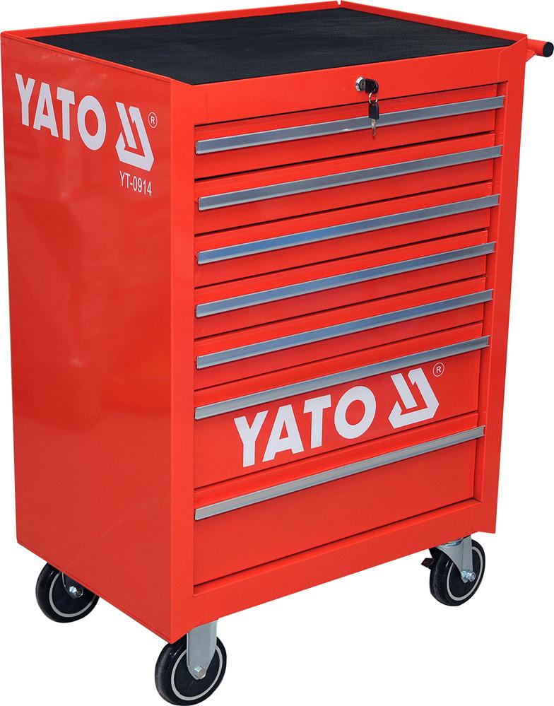 Шкаф-тележка для инструментов YATO 995 х 680 х 458 мм с 7 шуфлядами