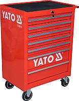 Шкаф-тележка для инструментов YATO 995 х 680 х 458 мм с 7 шуфлядами, фото 1