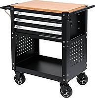Шкаф с инструментами на 4 колесах YATO 90.5 х 68 х 45.5 см с 3 ящиками 162 шт, фото 1