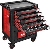 Шкаф с инструментами на 4 колесах YATO 95.8 х 76.6 х 46.5 см с 7 шуфлядами 165 шт, фото 1