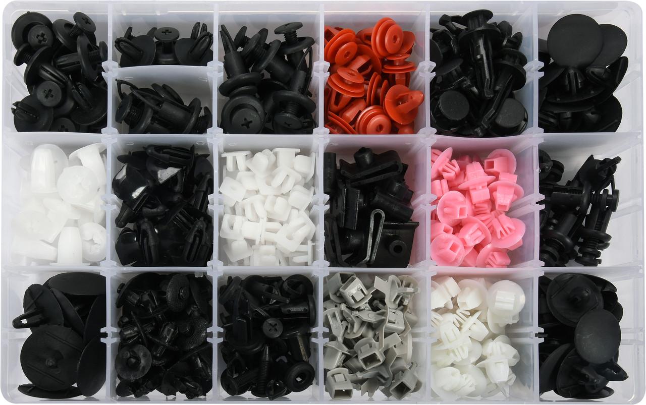 Шпинки для автосалоної обшивки TOYOTA/LEXUS YATO, різні, 18 типорозмірів, 360 шт.