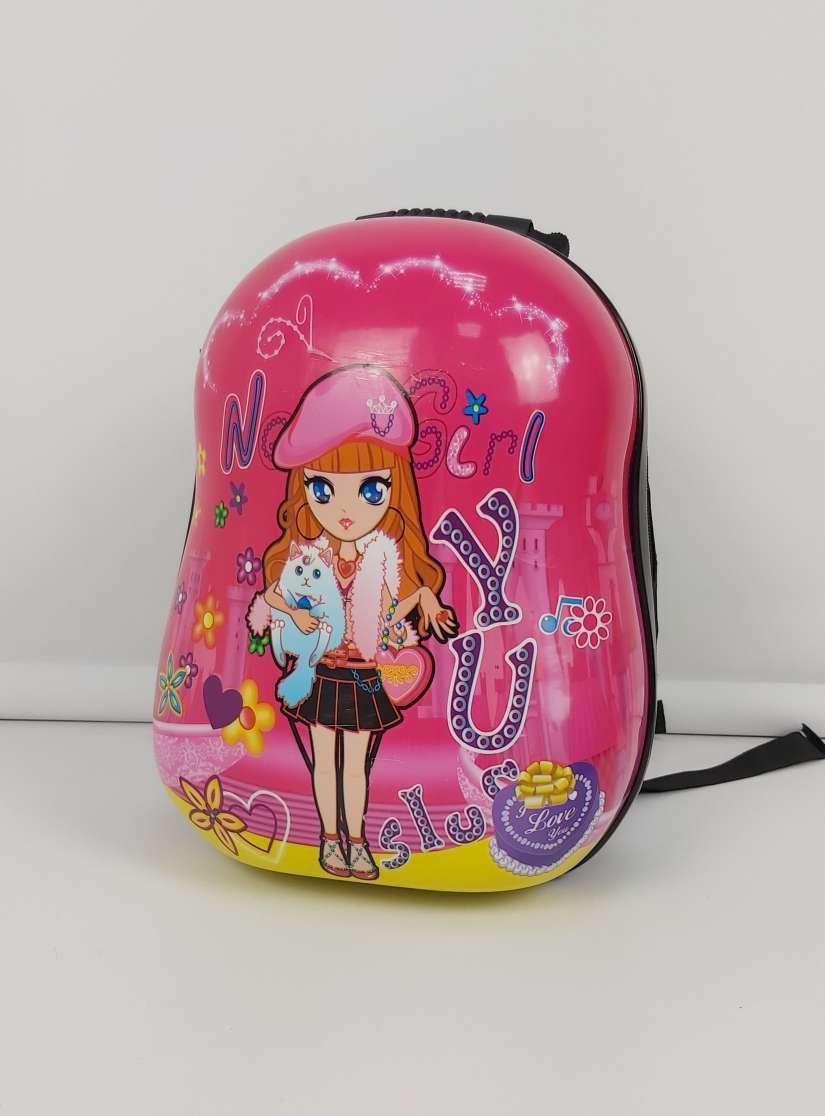 Розовый пластиковый рюкзак для девочек