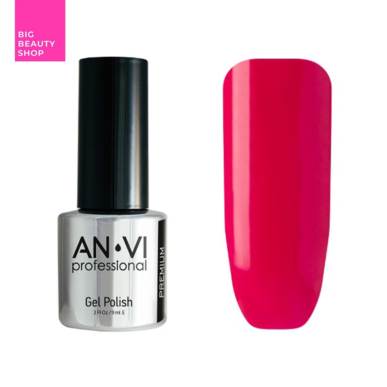 Гель-лак для ногтей ANVI Professional №092 Crimson Lips 9 мл