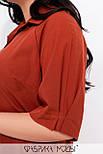Прямое платье рубашка длинное в больших размерах с рукавом до локтя  vN7450, фото 4