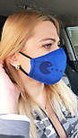Многоразовая защитная маска для лица из замши на дайвинге  vN7458, фото 3