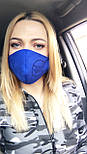 Многоразовая защитная маска для лица из замши на дайвинге  vN7458, фото 6