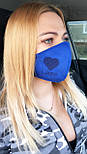 Многоразовая защитная маска для лица из замши на дайвинге  vN7458, фото 7
