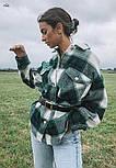 Женская свободная рубашка в клетку с карманами на груди  vN7460, фото 2