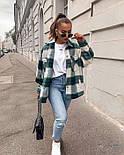 Женская свободная рубашка в клетку с карманами на груди  vN7460, фото 4