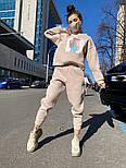 Женский утепленный спортивный костюм из футера с принтом  vN7476, фото 3