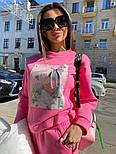 Женский утепленный спортивный костюм из футера с принтом  vN7476, фото 5