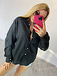 Жіноча вільна сорочка з широкими рукавами і кишенею на грудях vN7552, фото 2