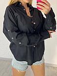 Жіноча вільна сорочка з широкими рукавами і кишенею на грудях vN7552, фото 3