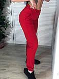 Женские спортивные штаны на манжетах и с карманами  vN7573, фото 5
