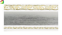 Лента декоративная 70 мм, Бленда Ажур 3 Сатин на потолочный карниз КСМ, усиленный потолочный карниз