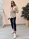 Вельветовая женская рубашка удлиненная с поясом  vN7618, фото 2