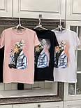 Летняя женская футболка удлиненная с рисунком  vN7672, фото 4