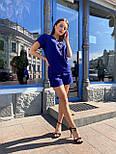 Женский льняной летний костюм с шортами и футболкой  vN7711, фото 4