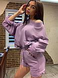 Женский летний костюм с шортами и свободным свитшотом  vN7735, фото 2