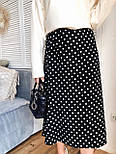 Шелковая женская юбка миди расклешенная  vN7744, фото 5