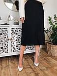 Шелковая женская юбка миди расклешенная  vN7744, фото 6