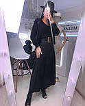 Довга шовкова жіноча спідниця розкльошена vN7750, фото 3