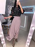 Довга шовкова жіноча спідниця розкльошена vN7750, фото 4