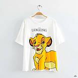 Женская белая футболка с рисунком Симба  vN7753, фото 2