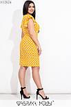 Приталенное платье в больших размерах в горошек с коротким рукавом  vN7763, фото 3