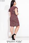 Приталенное платье в больших размерах в горошек с коротким рукавом  vN7763, фото 5