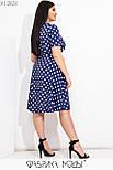 Принтованное платье в больших размерах до колен с расклешенной юбкой и коротким рукавом  vN7764, фото 4